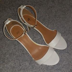 H&M White Heels